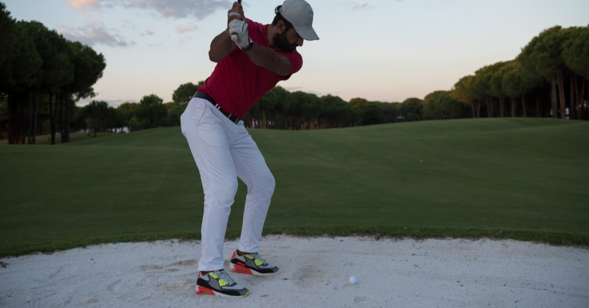 Image of Man Hitting out of Straight Line Bunker System