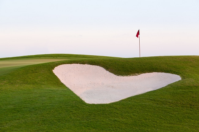 Image of Heart Shaped Bunker with Breezing Flag