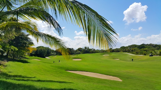 Image of a Tropical Golf Course and Bunker