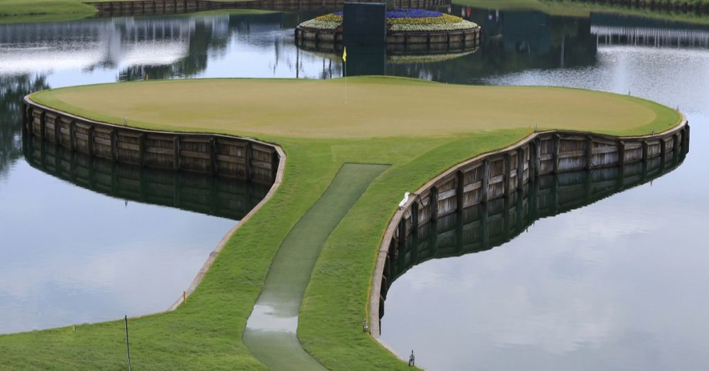 Image of TPC Sawgrass 17th Hole RIP Pete Dye